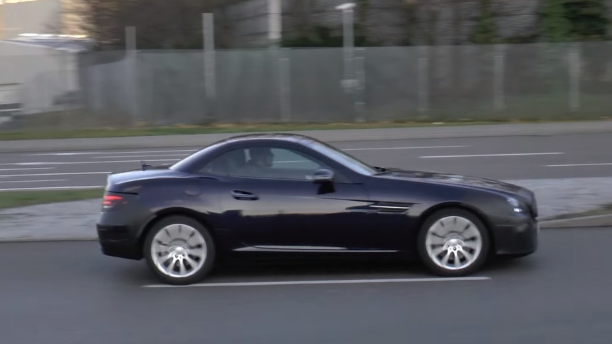Mercedes-Benz SLC returns for more spy footage ahead of Detroit debut