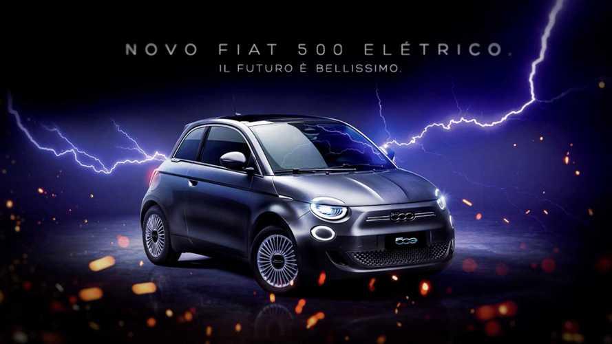 Novo Fiat 500 elétrico será lançado no dia 3 de agosto no Brasil