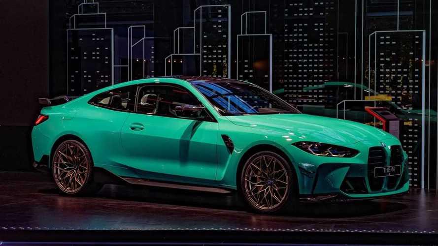 BMW M4 выглядит невероятно свежо с мятно-зеленым оттенком