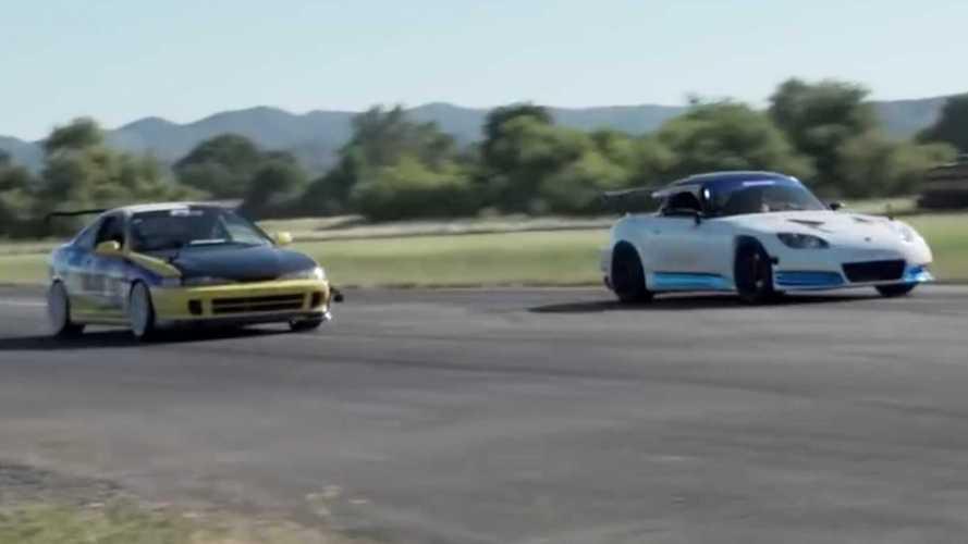 Honda S2000 Drag Races Acura Integra Type R in RWD-Vs-FWD Fight