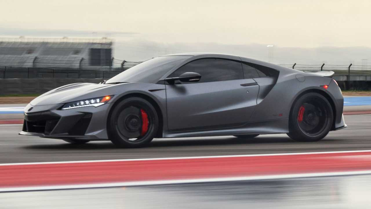 2022 Acura NSX Type S Side On Track