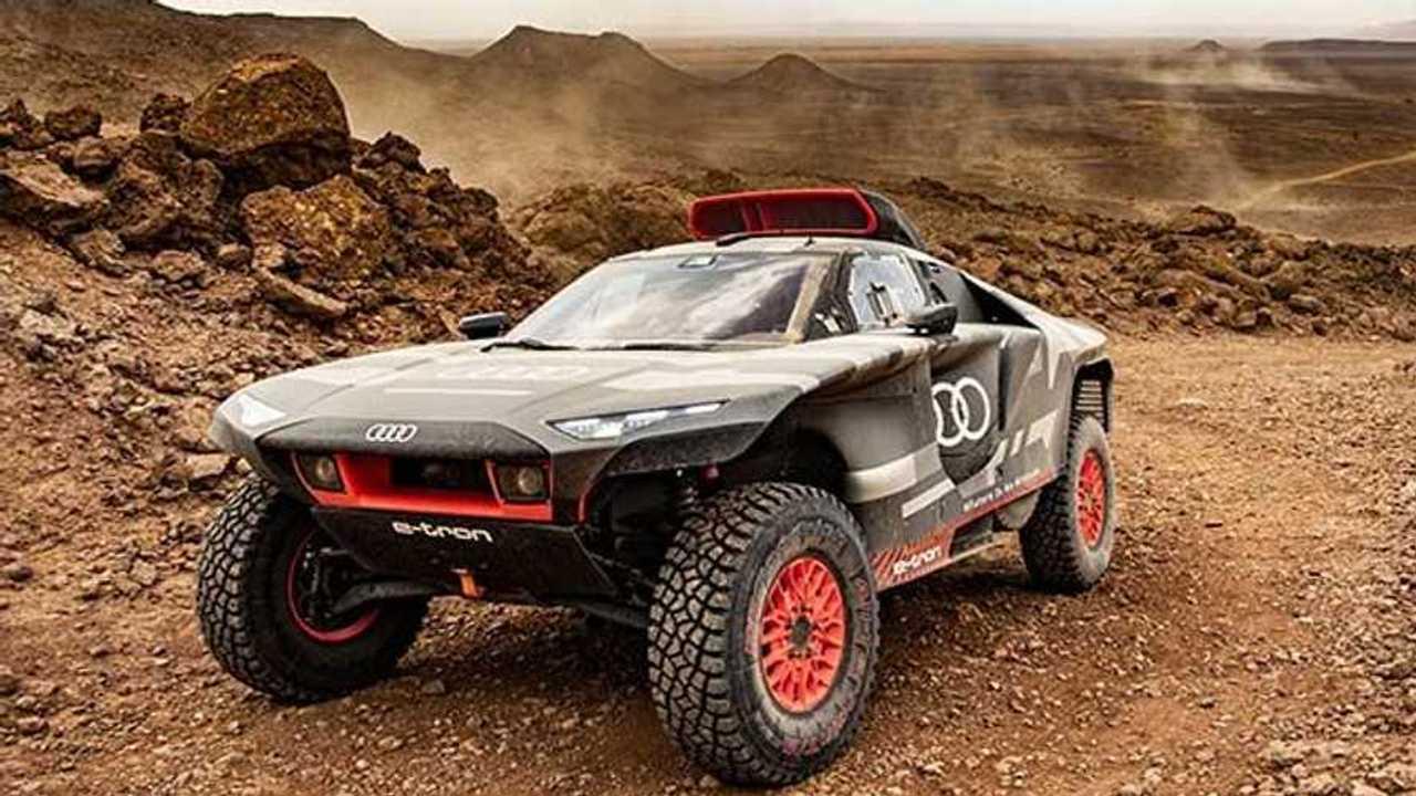 Audi RS Q e-tron marokkói teszt