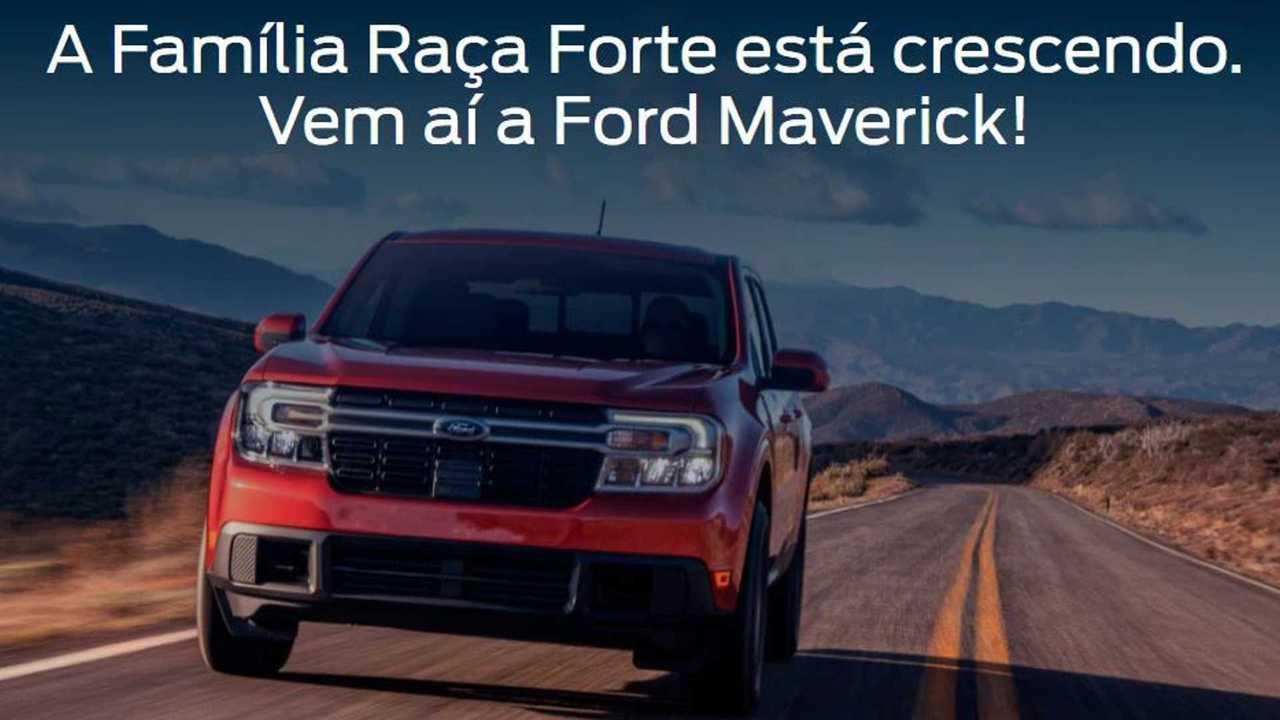 Ford Maverick no site brasileiro