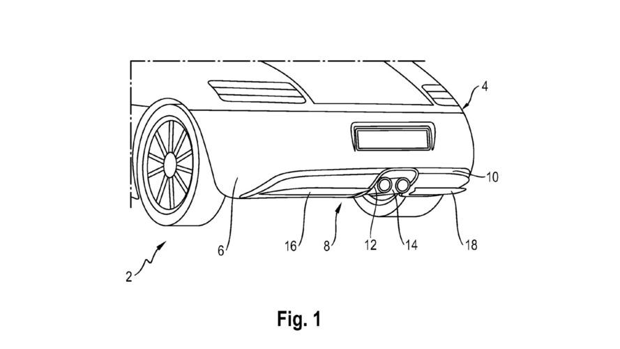 Porsche, aktif arka difüzör için patent aldı