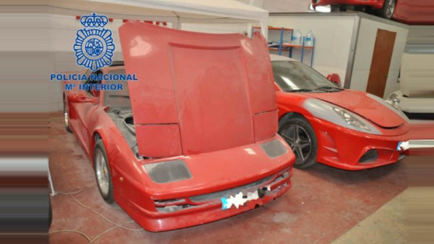 """Fábrica de Ferraris e Lamborghinis """"genéricas"""" é desmantelada na Espanha"""