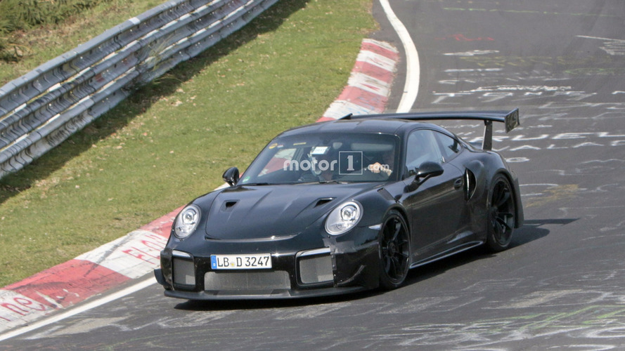 2018 Porsche 911 GT2 Wings It At The Nurburgring [20 Spy Photos]