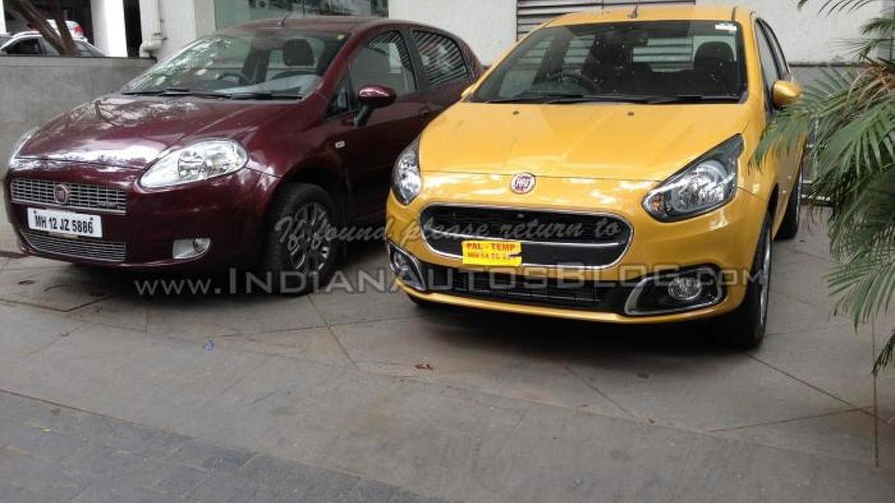 2015 Fiat Punto facelift spy photo