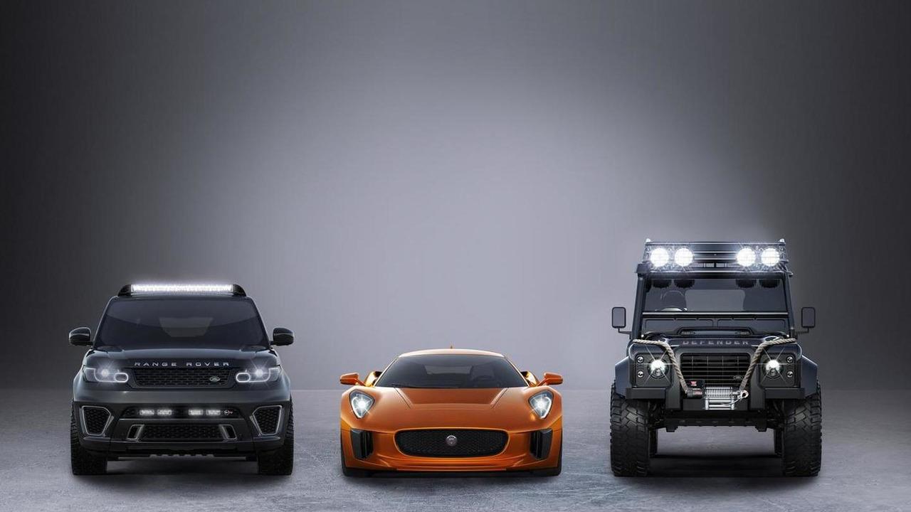 Jaguar C-X75, Range Rover Sport SVR and Land Rover Defender Big Foot for SPECTRE