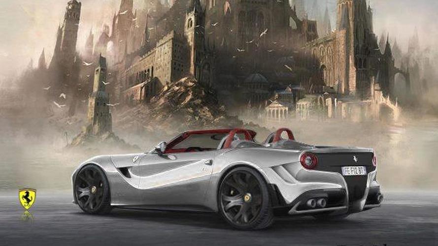 Ferrari F12 Berlinetta Spyder rendered & beefed up