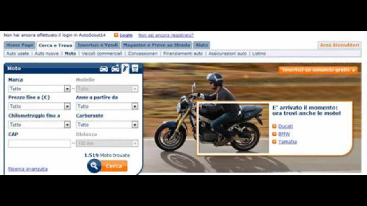 AutoScout24 lancia la sezione moto
