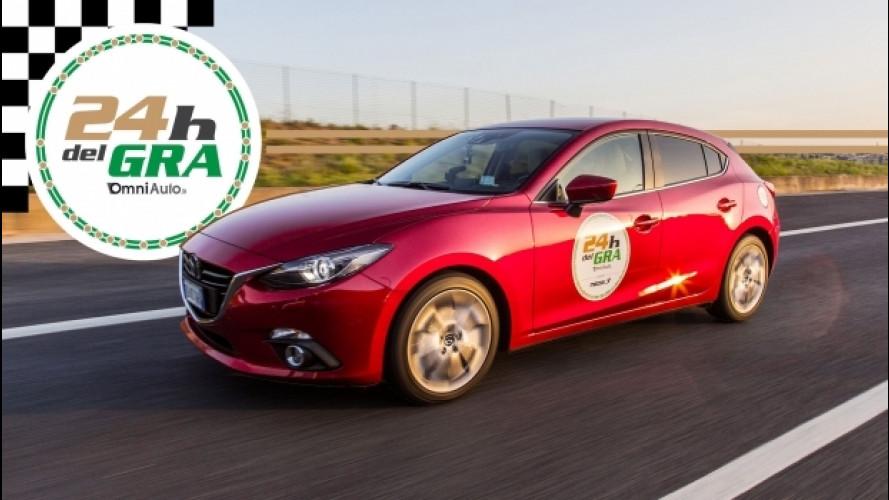 Mazda 3, la nostra 24 Ore del GRA