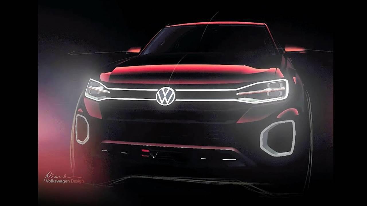 VW pickup concept teaser