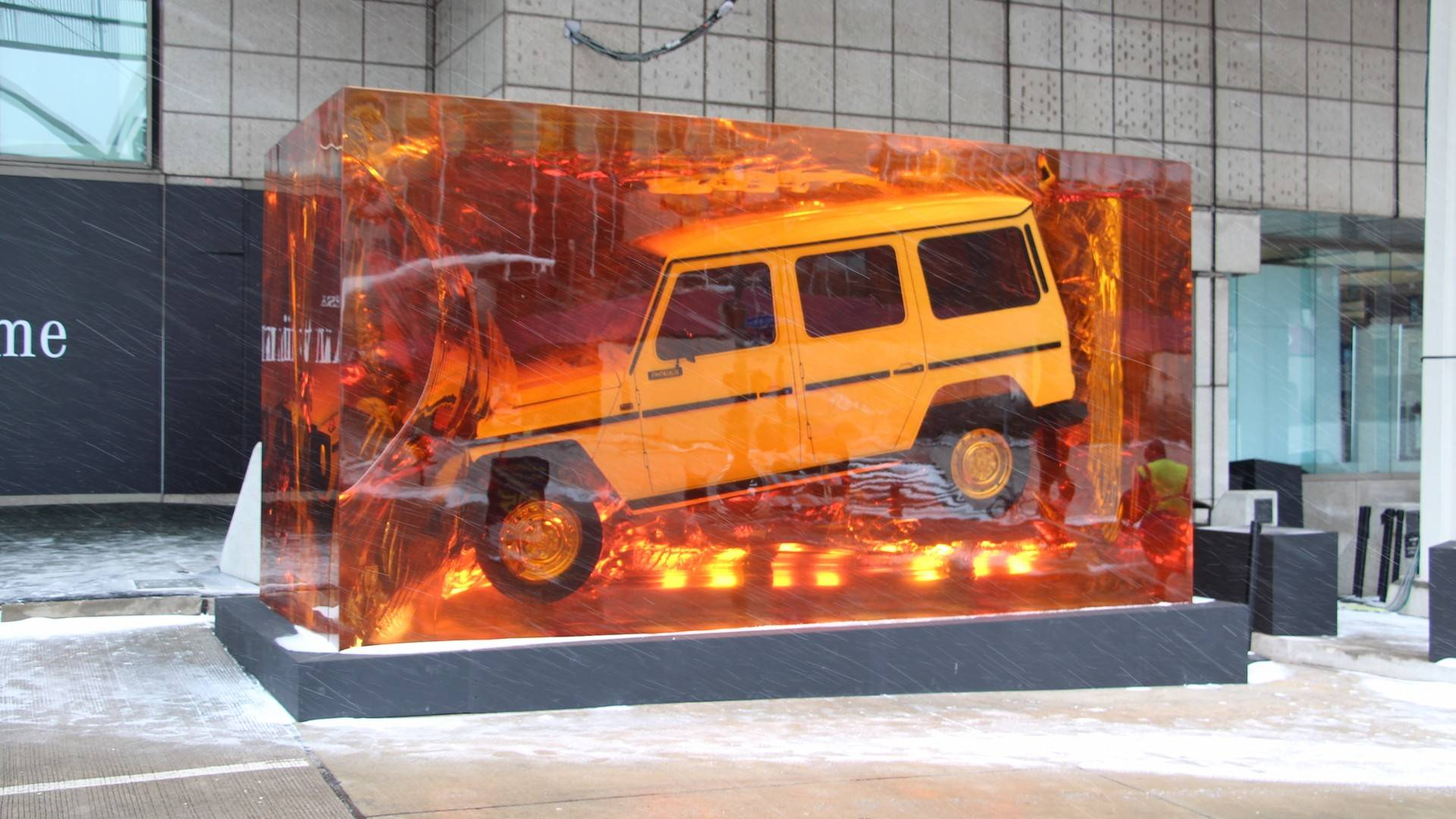 find out how mercedes encased the original g class in resin