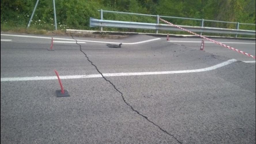 Sisma in Centro Italia, la situazione delle strade