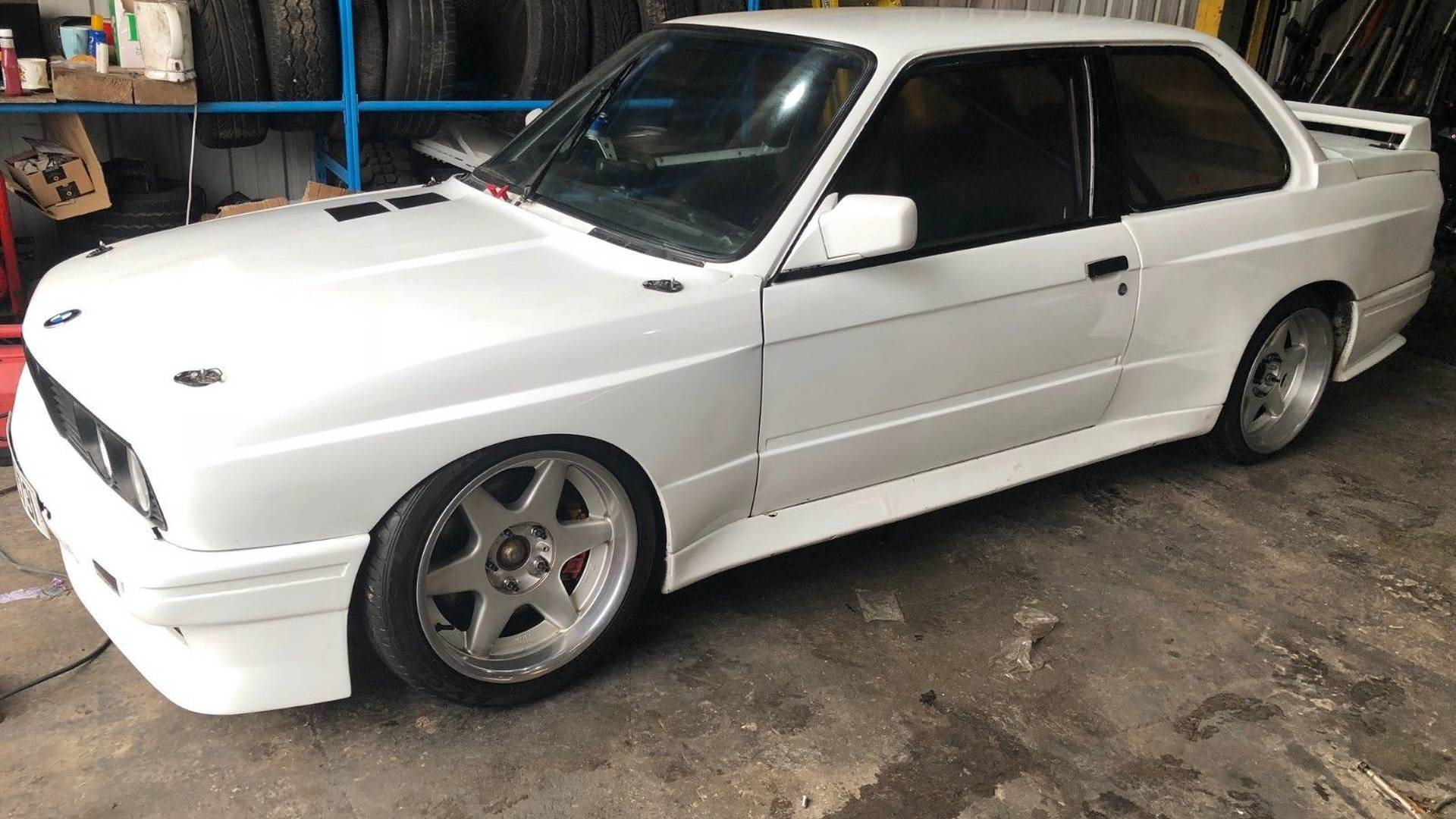 bmw e30 with mid mounted supercharged honda s2000 engine for sale
