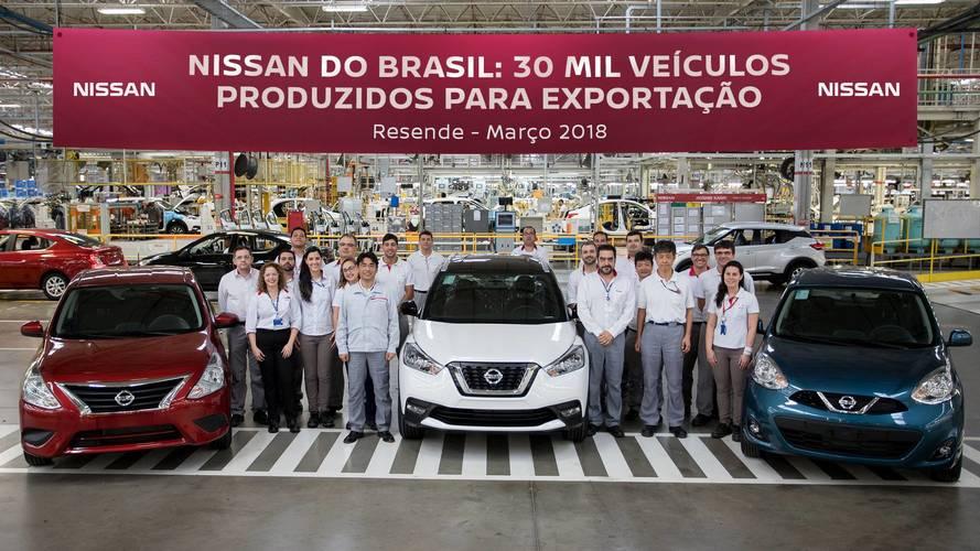 Nissan alcança 30 mil veículos produzidos para exportação em Resende