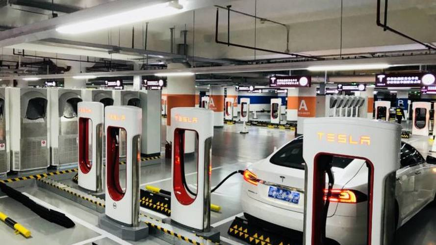 Tesla Opens World's Largest Supercharger Station In Shanghai