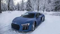 Audi R8 kış foto çekimi