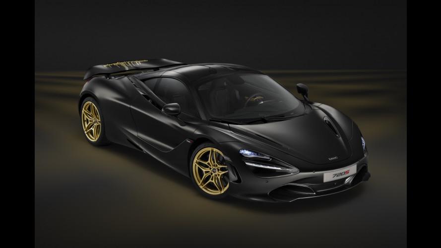 McLaren 720S MSO Bespoke, nero e oro per celebrare il successo