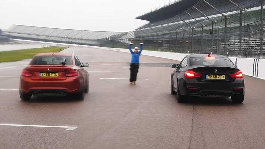Une BMW M2 Competition affronte une BMW M4 Competition