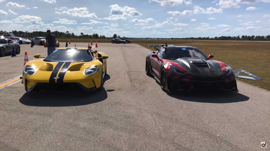 This Ford GT Obliterates A Corvette ZR1 In Half-Mile Drag Race