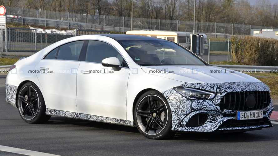 New Mercedes-AMG CLA 45 has lost most of its camouflage