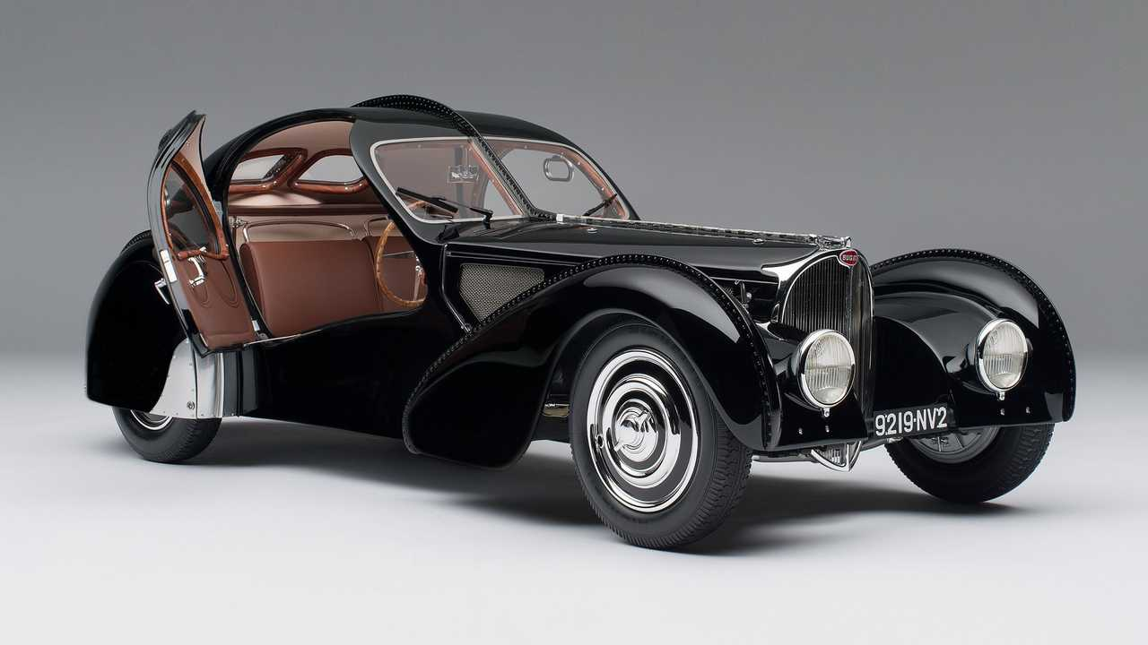 1938 Bugatti 57SC Atlantic La Voiture Noire scale model - $11,316