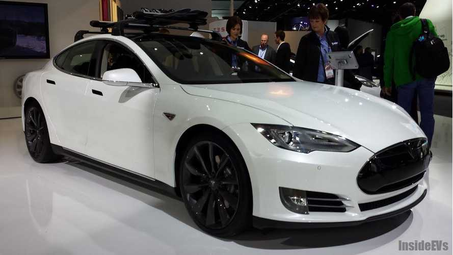Tesla Model S - Live at the 2014 Detroit Auto Show