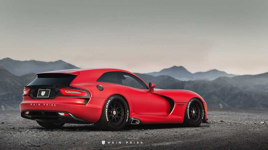 Dodger Viper Render Shows Us A Shooting Brake Snake