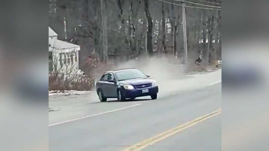 Man films high-speed chase that crashes into him