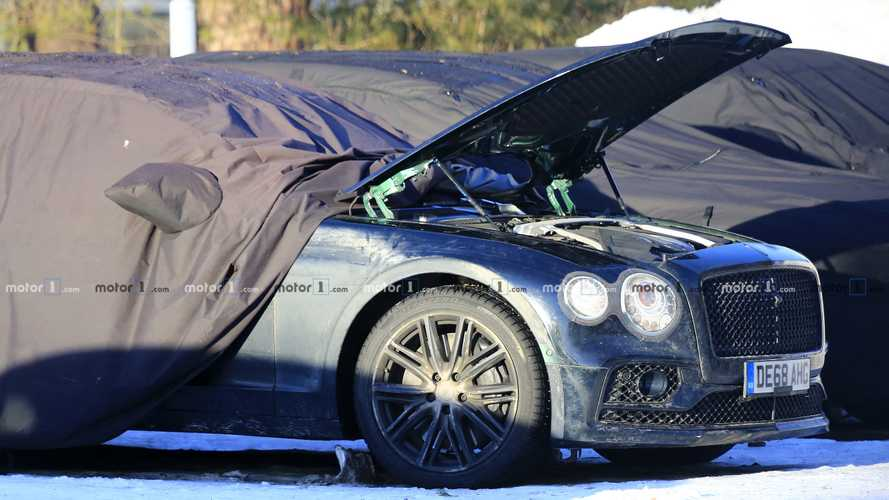 Bentley Flying Spur spy shots