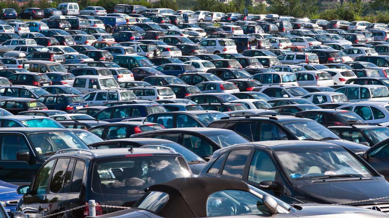 Full large car park