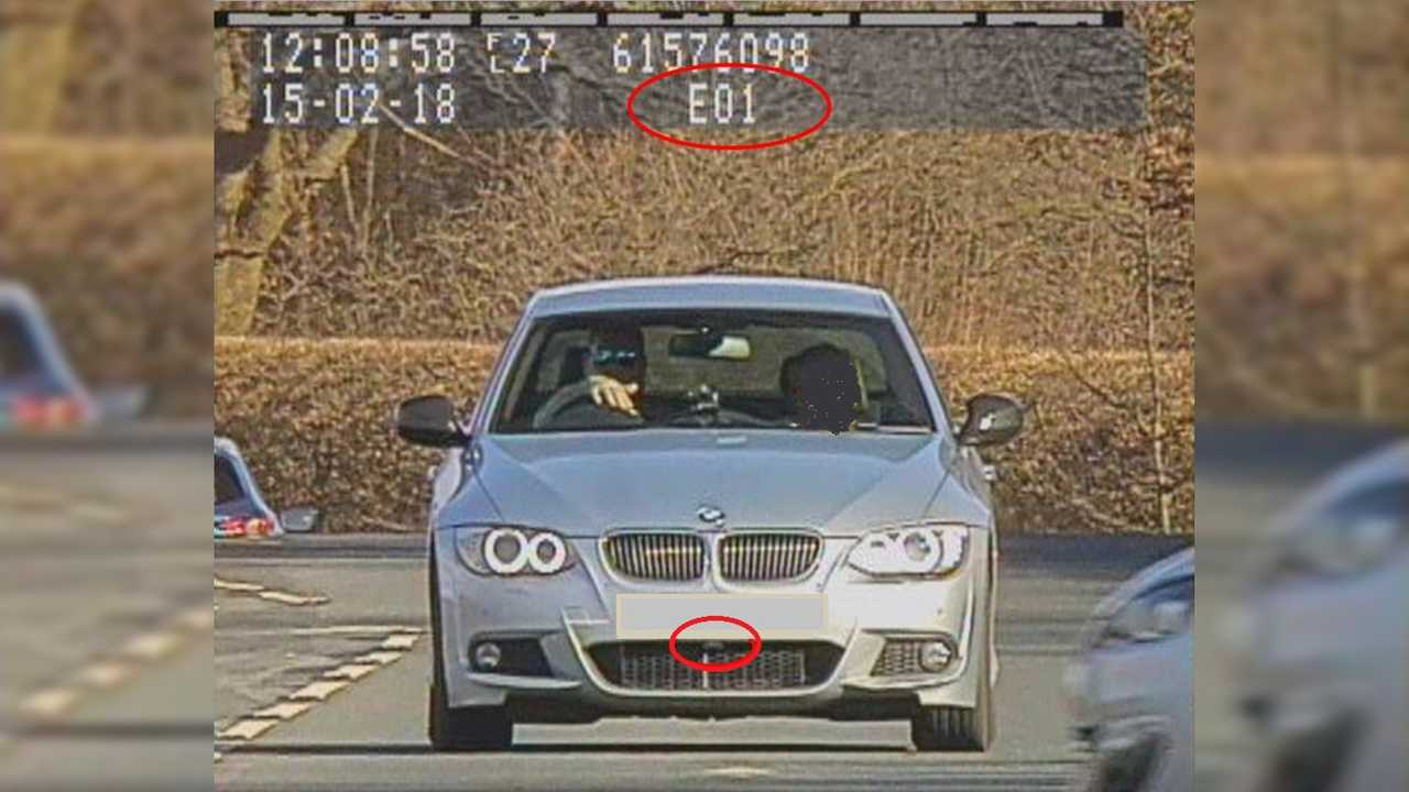BMW driver using a laser jammer caught by police