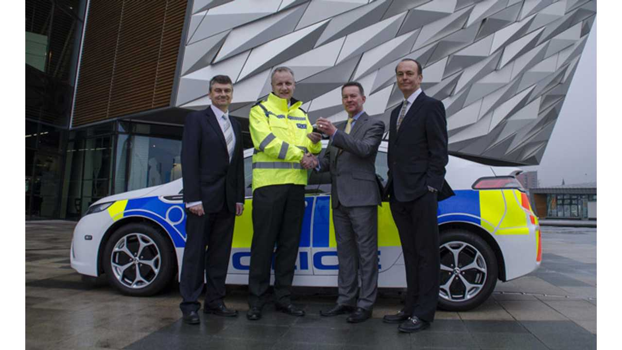 Vauxhall Ampera Ready for Rozzer Duty in Northern Ireland