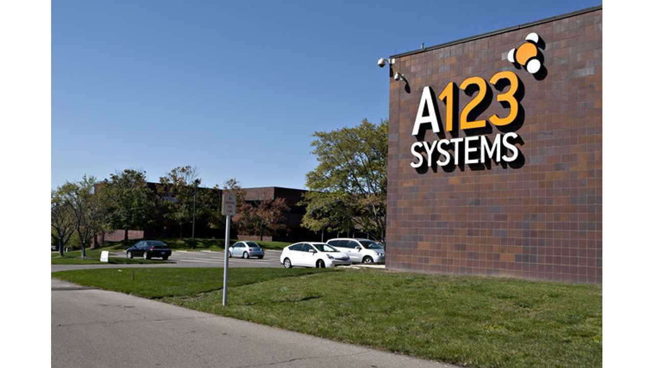 Newly Purchased A123 By No Longer Eligible For Rest Of $249 Million DoE Grant