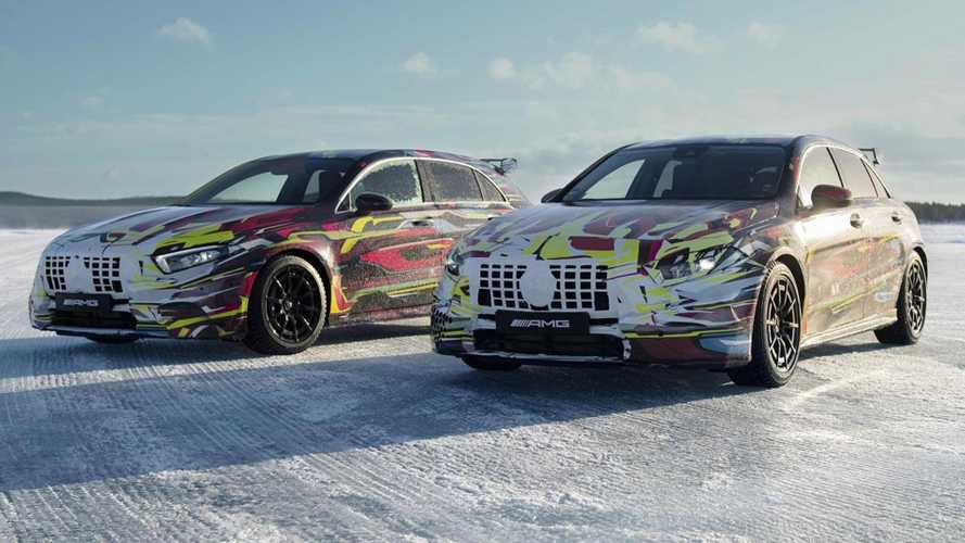 Mercedes-AMG A45 teased during its icy outting
