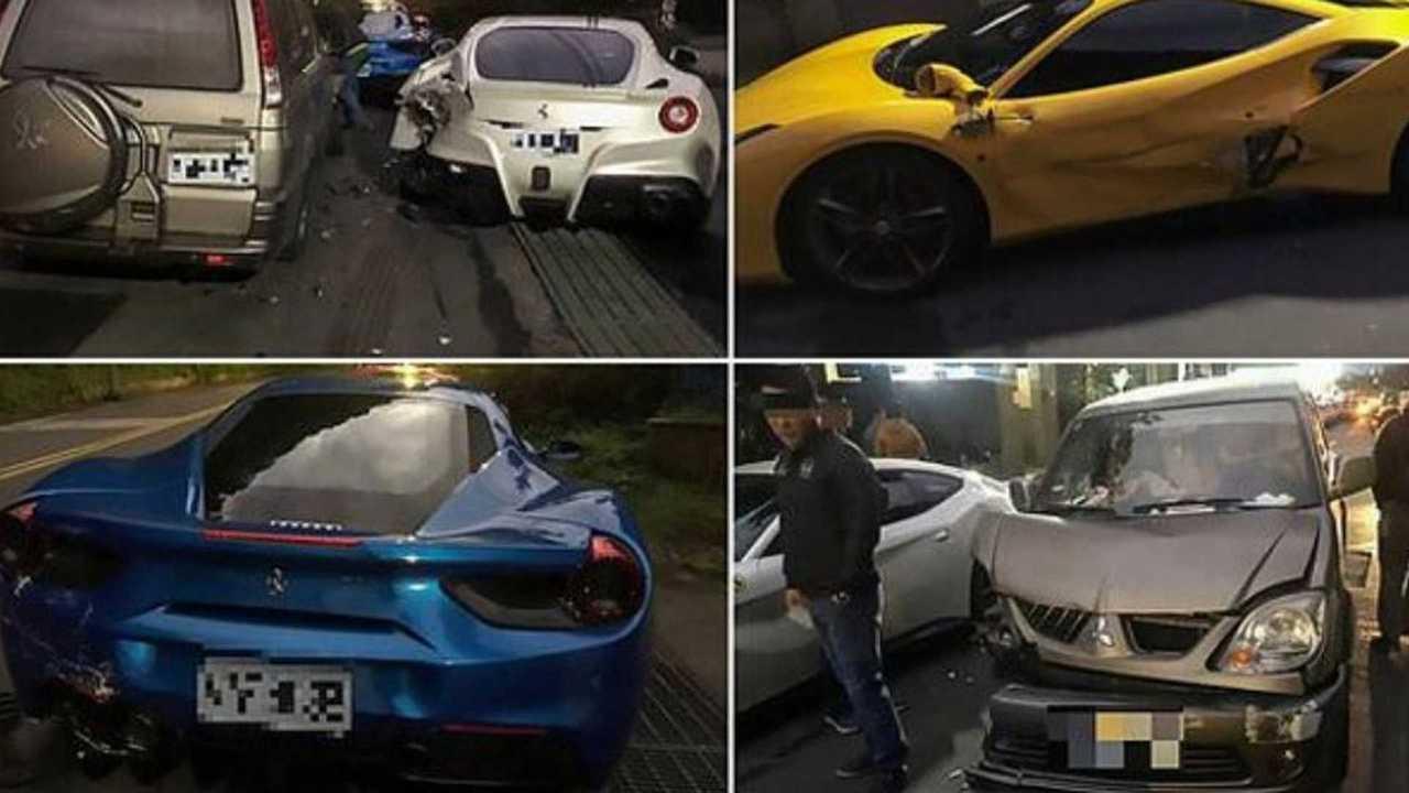 Ferrari endommagées