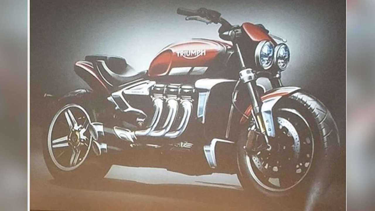 Pictures of the new Triumph Rocket III leaked