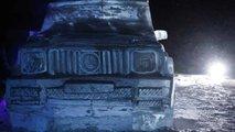 Mercedes-Benz Classe G, scultura di ghiaccio