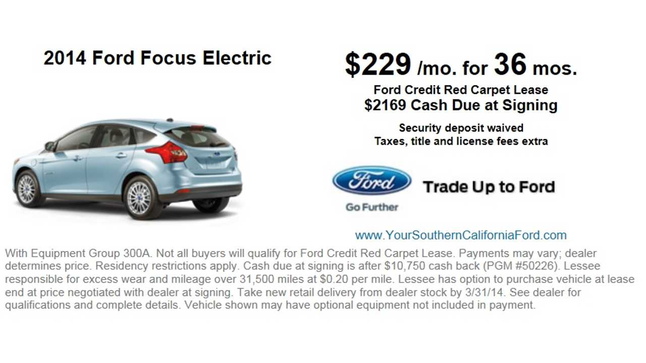 Ford Offers 6 000 Off Focus Electric 29 170 Leases From 229 Per Month