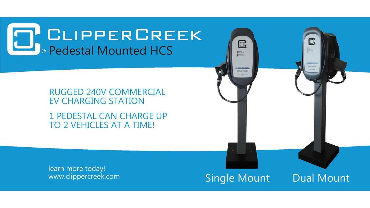ClipperCreek Launches Commercial HCS-40 Single & Dual Pedestal Mounted Charging Stations - Starting at $1,309