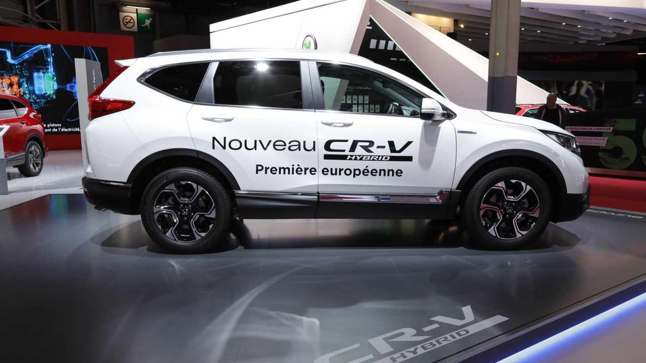 Production-Ready Honda CR-V Hybrid Arrives At Paris Motor Show