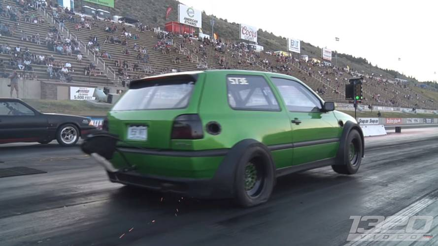 Insane VW Golf GTI Has Two Engines Making 1,600 HP