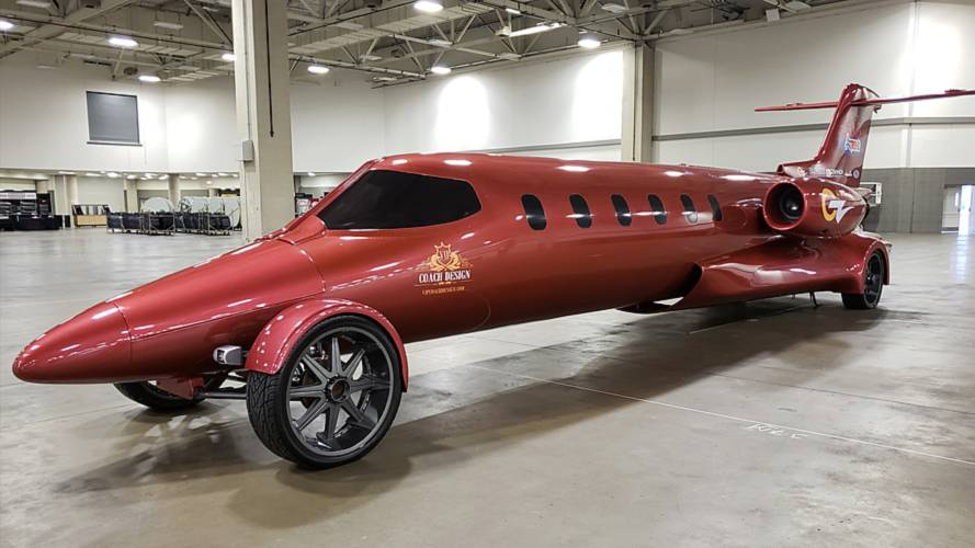 Someone turned a private jet into this awesome street legal limo