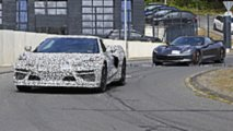 Mid-engined Chevy Corvette C8 spy photo
