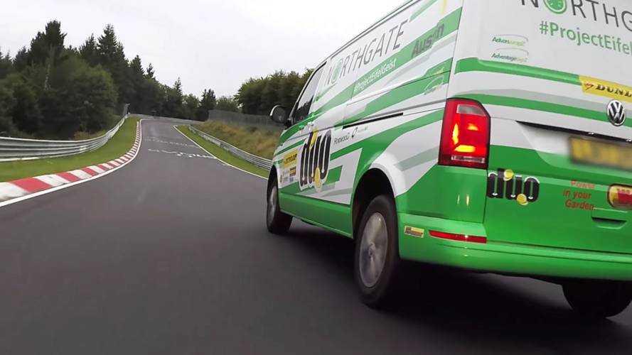 Le Volkswagen Transporter s'illustre... sur le Nürburgring