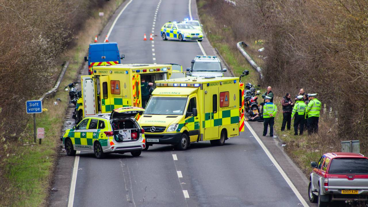 Traffic accident Stone Cross East Sussex UK 2018