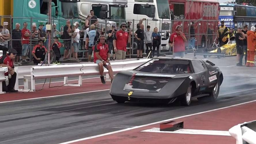 Watch TC-X Doorslammer Lay Down Record Electric 1/4-Mile Run