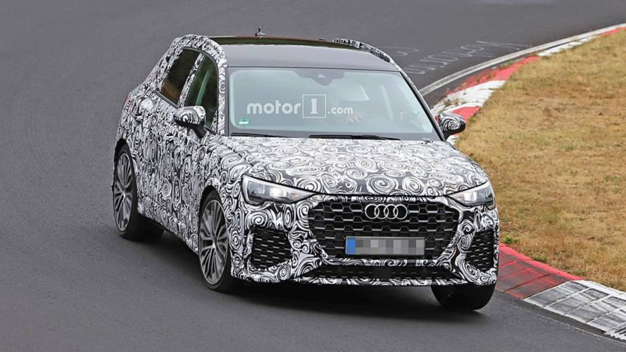 Audi RS Q3 plays its five-cylinder symphony at the Nürburgring