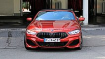 BMW 8 Series Convertible Spied In Red